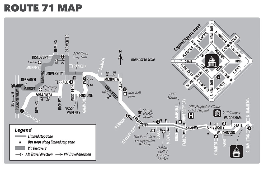 Metro Transit Route 71 Map